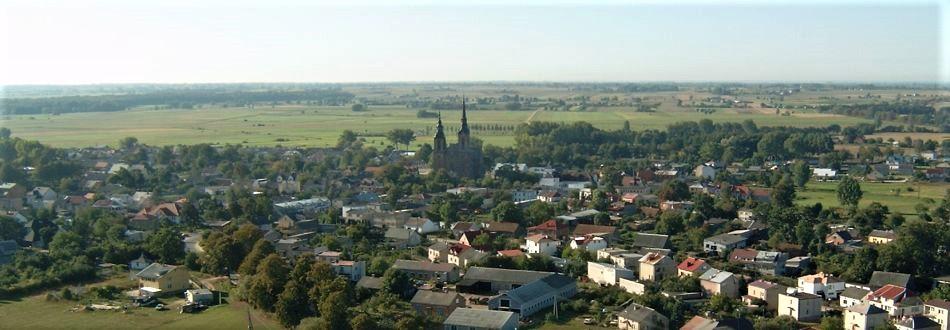 widok gminy Bielsk z lotu ptaka
